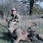 Large Buck on hunting ranch
